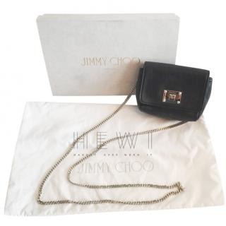 Jimmy Choo Small Black Leather Cayla Crossbody Bag
