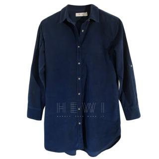 MiH azure blue cotton needlecord shirt