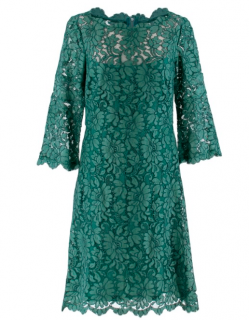 Goat Emerald Floral Lace Midi Dress