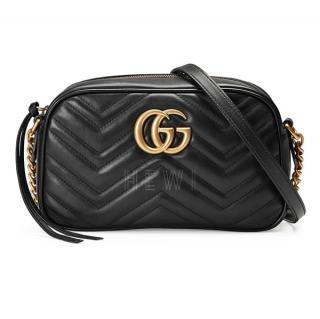 Gucci Black GG Marmont Camera Bag