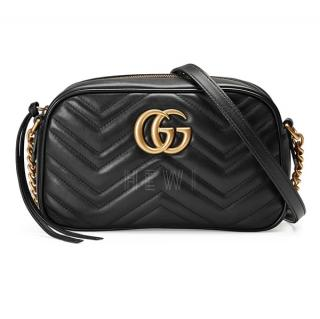 Gucci Black GG Marmont Camera Bag