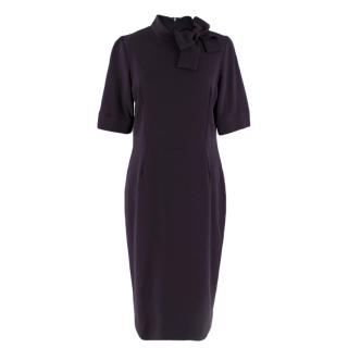 Goat Deep Purple Fitted High Neck Dress