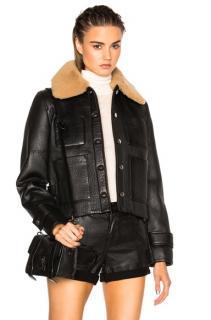 Acne Studio Felipa black leather jacket