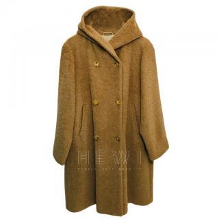 Max Mara Alpaca Wool Blend Camel Coat