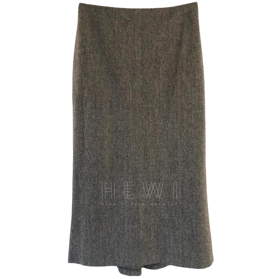 Joseph Virgin Wool Midi Skirt