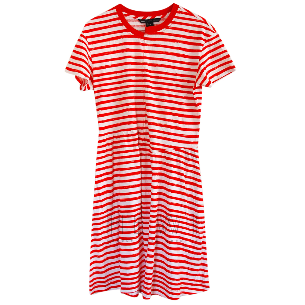 Marc by Marc Jacobs Red & White Striped Dress