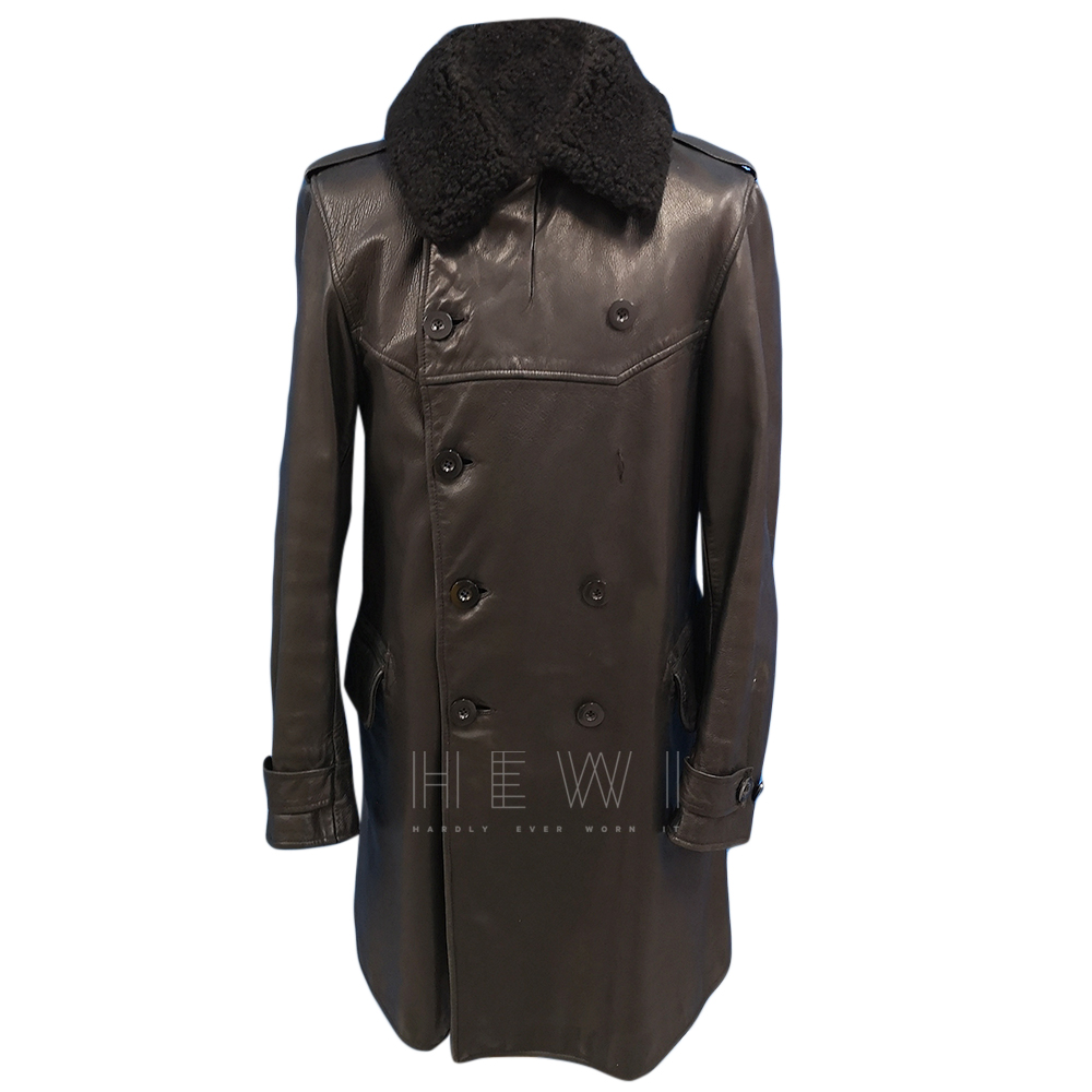Polo by Ralph Lauren Double Breasted Horse Leather Coat