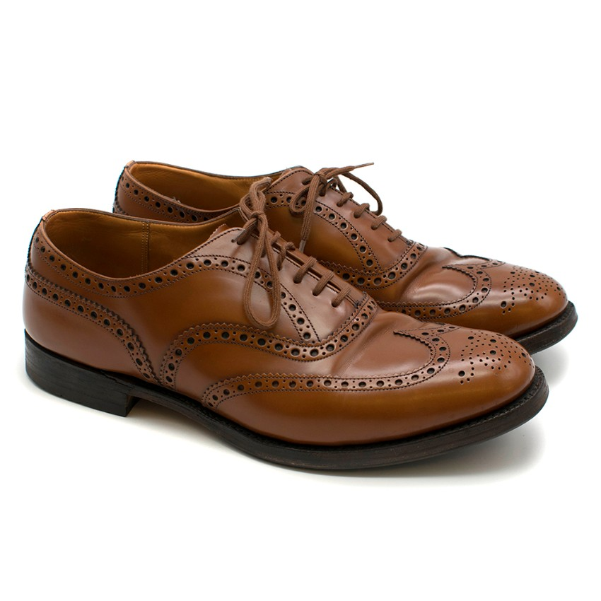 Church's Brown Leather Lace-Up Brogues