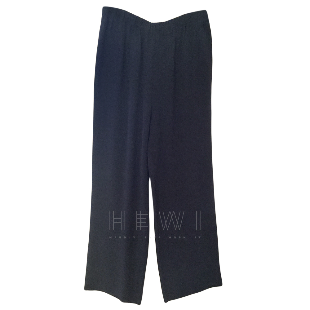 Equipment blue silk straight leg trousers