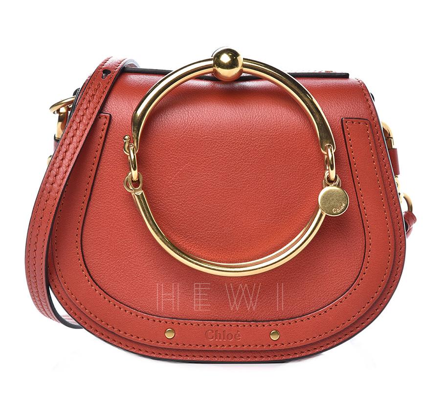 Chloe Earthy Red Small Nile Bracelet Bag