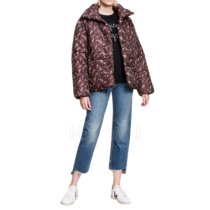 Nanushka Liberty Fabric Elizabeth Print Hide Puffer Jacket