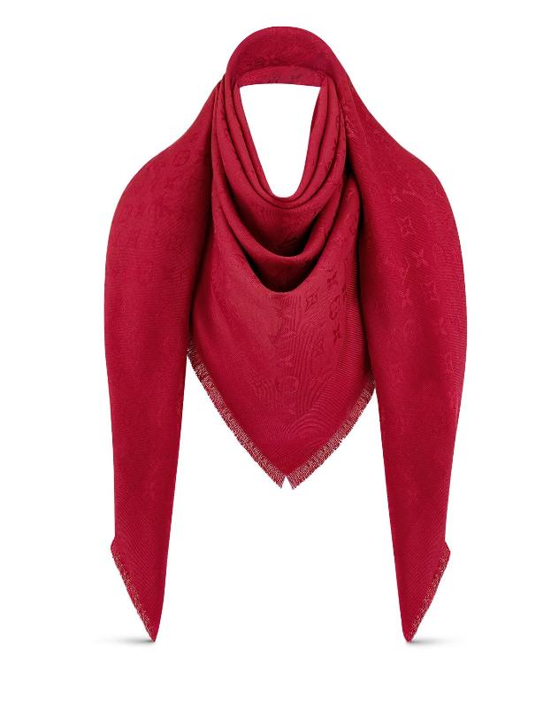 Louis Vuitton pomme d'amour monogram shine shawl