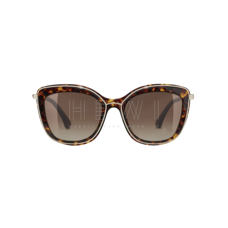 Chanel Tortoiseshell Butterfly Sunglasses - New Season
