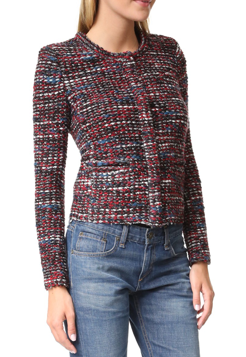 Iro Multi-Colour Tweed Knit Jacket