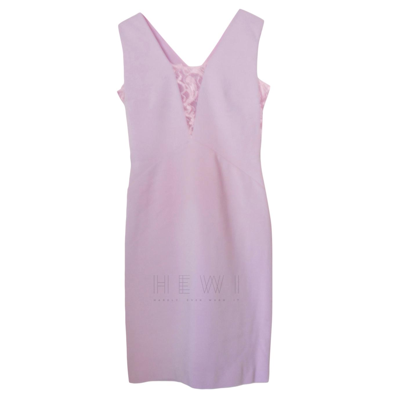 Emilio Pucci lilac stretch viscose/lace inserts dress