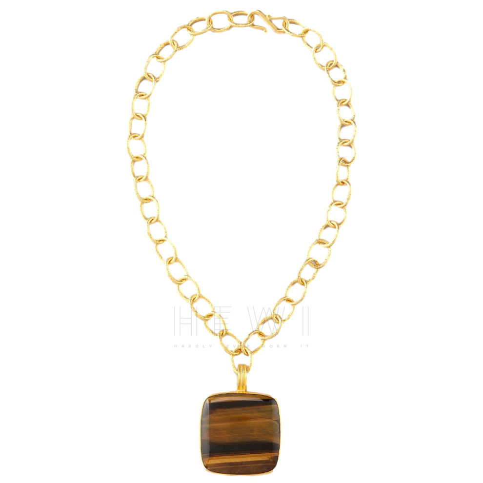 Dina Mackney Tiger's Eye Pendant Necklace