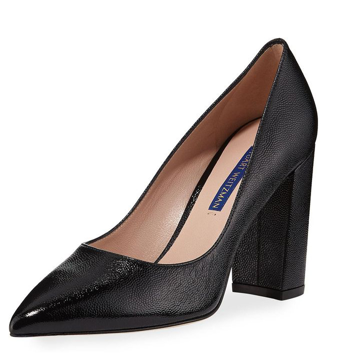 Stuart Weitzman Black Laney 95 Patent Leather Pumps
