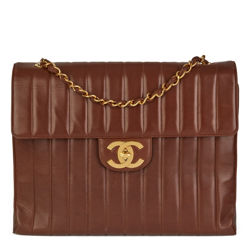 Chanel Vertical Quilt Vintage Maxi Flap Bag