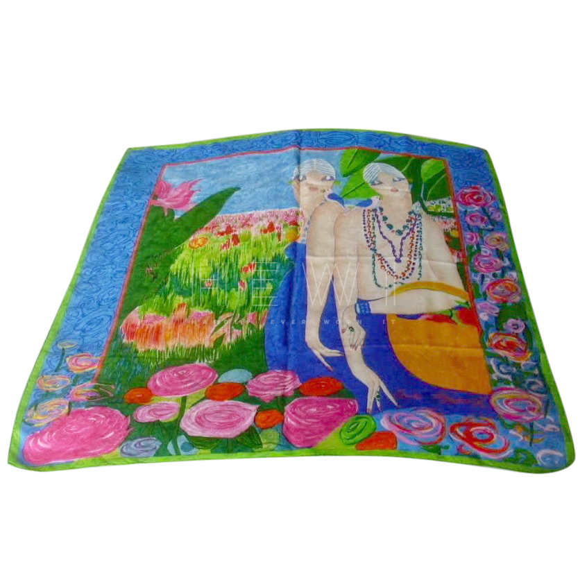 Louis Feraud Silk Jacquard Printed Scarf