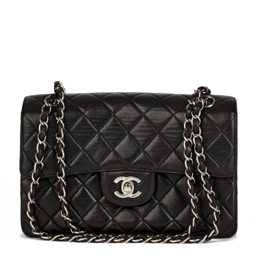 Chanel Vintage Black Double Sided Flap Bag