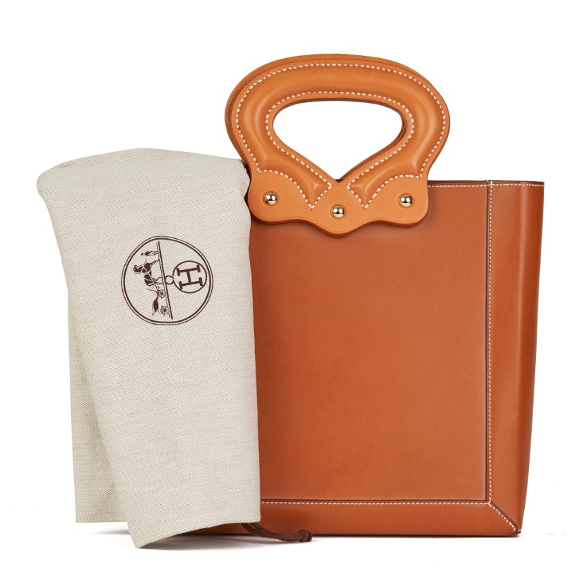 Hermes Barenia Leather Cut-Out Top Handle Tote