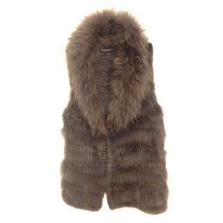 Oakwood Racoon & Rabbit Fur Blend Gilet