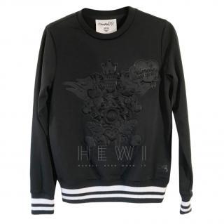 MCM x Stephan Strumbel Embossed Black Sweatshirt