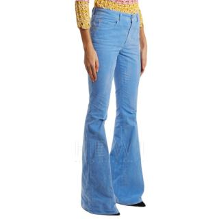 Gucci Mid-rise flared stretch-cotton corduroy trousers