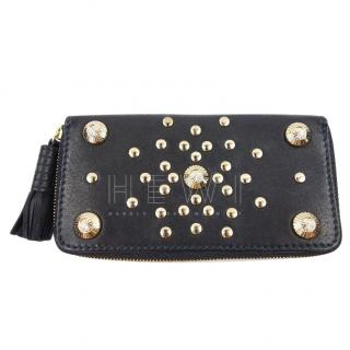 Temperley Gold Studded Zip Around Wallet
