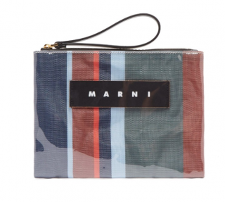 Marni Striped PVC Pouch