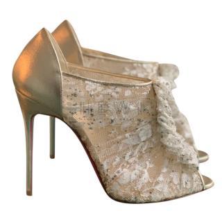 Christian Louboutin Canonita Lace & Crystal Sandals