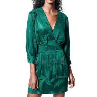 Smythe Emerald Green Y-Front Mini Dress