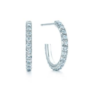 Tiffany & Co Metro Diamond Hoop Earrings