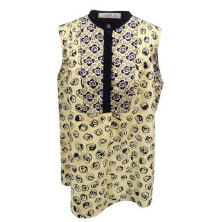 Etro Silk Printed Yellow Top
