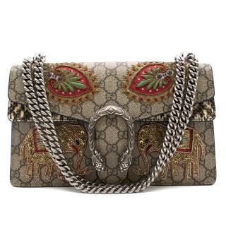 Gucci Multicolor Dionysus Elephant Embroidered Shoulder Bag