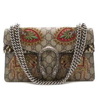 Gucci Multicolor Dionysus Elephant Embroidered Shoulder Bag