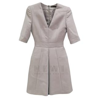 Alexander McQueen Wool Blend Grey Mini Dress