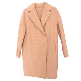 Max Mara Double Breasted Powder Pink Coat