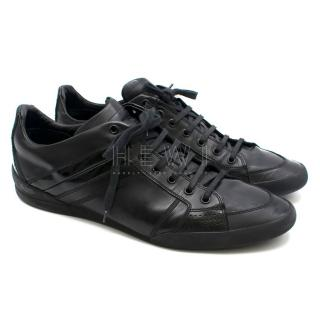 Dior Men's Black Leather Sneakers