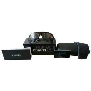 Chanel 6007 Black Pilot Aviator Sunglasses