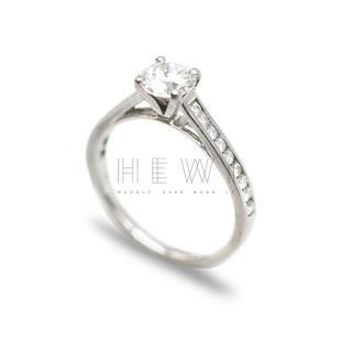 Bespoke Platinum Brilliant Cut Diamond Soliatire Ring