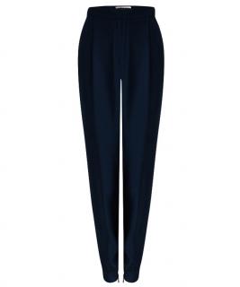Matthew Williamson navy silk trousers