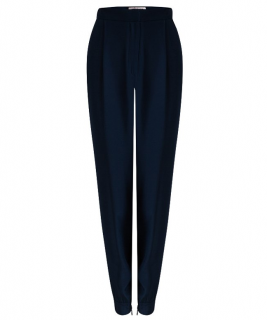 Matthew Williamson navy silk trousers