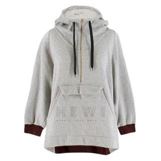 Marni Grey Jersey Half Zip Hoodie