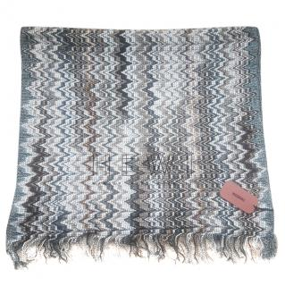 Missoni Woven Knit Fringe Scarf