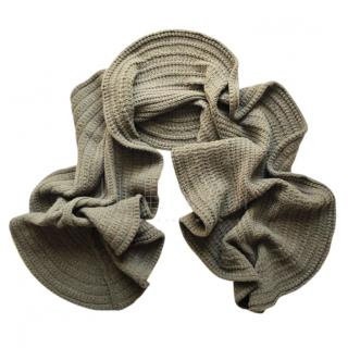 Ralph Lauren Khaki Ribbed Knit Shawl