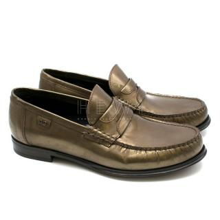 Dolce & Gabbana Men's Metallic Leather Loafers