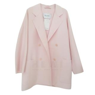 Max Mara Pale Pink Virgin Wool & Cashmere Coat