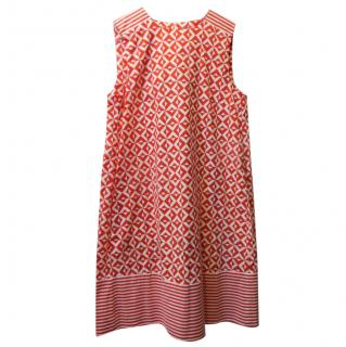 Marella Red & White Sleeveless Printed Dress