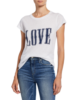 Zadig & Volatire Skinny Love Printed T-Shirt in White